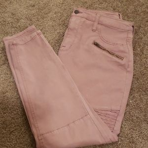 High rise, pink jeggings